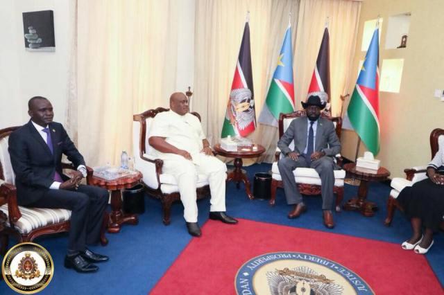 HTP VP-Africa Frnaklin Mondo Mugisha Meets with South Sudanese President Salvar Kiir (2 (3)