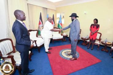 HTP VP-Africa Frnaklin Mondo Mugisha Meets with South Sudanese President Salvar Kiir (2 (5)
