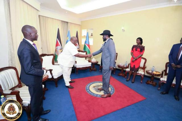 HTP VP-Africa Frnaklin Mondo Mugisha Meets with South Sudanese President Salvar Kiir (2 (6)