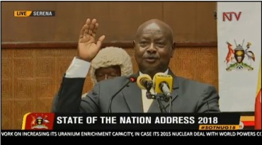 President Museveni State of Nation's Adress 2018