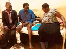 Hon Abacanon Charles and his wife with Kivumbi Earnest Benjamin