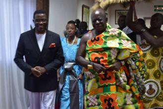 Ashanti Asantehene Otumfuo Osei Tutu II visitin Uganda (3)