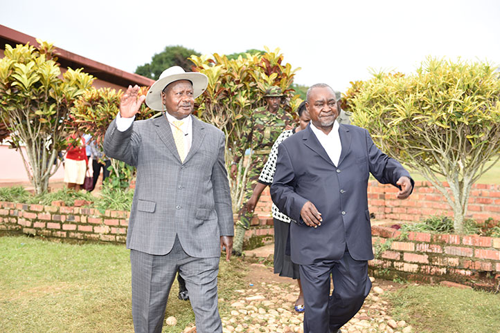 Gilbert-Bukenya-and-Museveni-at-Katomi